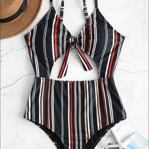 One Piece Cut Out Swimsuit